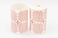mug/vase with Red Star design Cool Ice Porcelain