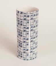 large vase with Keyboard design Cool Ice Porcelain