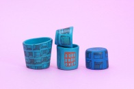 assorted small objects Cool Ice Porcelain